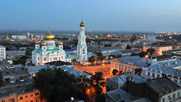 Вид на Ростовский кафедральный собор в Ростове-на-Дону