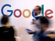 Логотип Google во время саммита Viva Tech в Париже