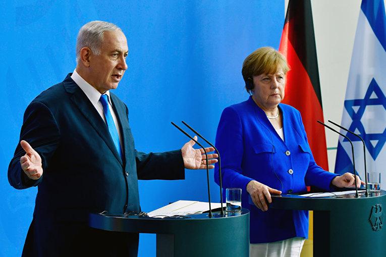 Канцлер Германии Ангела Меркель и премьер-министр Израиля Биньямин Нетаньяху