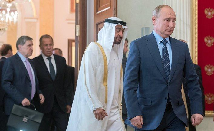 Президент РФ В. Путин встретился с наследным принцем Абу-Даби М. Аль Нахайяном