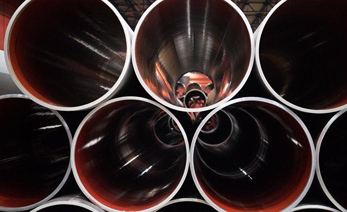 Трубы для «Северного потока— 2» вцехе «ЭТЕРНО» ПАО «Челябинский трубопрокатный завод» (ЧТПЗ)
