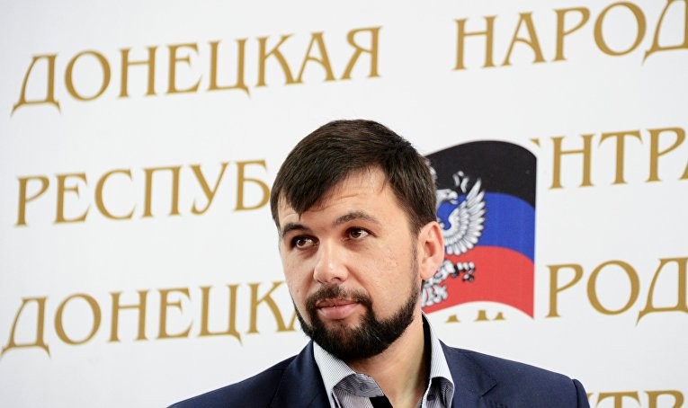 Председатель Временного коалиционного правительства Донецкой народной республики Денис Пушилин