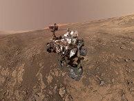 Марсход Curiosity на поверхности Марса