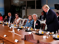 Президент США Дональд Трамп с опозданием прибыл на завтрак лидеров G7, который был посвящен вопросам гендерного равенства. 9 июня 2018 года