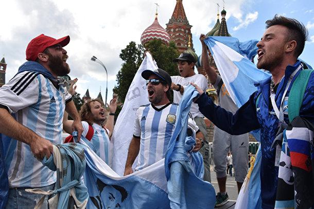 Болельщики сборной Аргентины в Москве