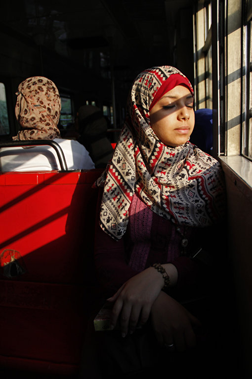 Пассажирки метро в Каире, Египет