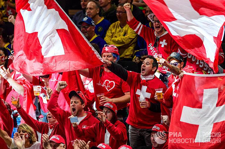 Хоккей. Чемпионат мира. Матч Россия - Швейцария