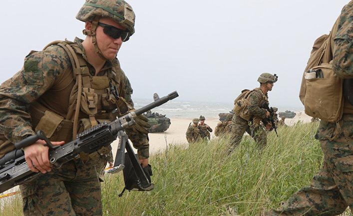 Американские солдаты принимают участие в военных учениях НАТО в Литве