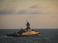 Учения корабельных сил Каспийской флотилии