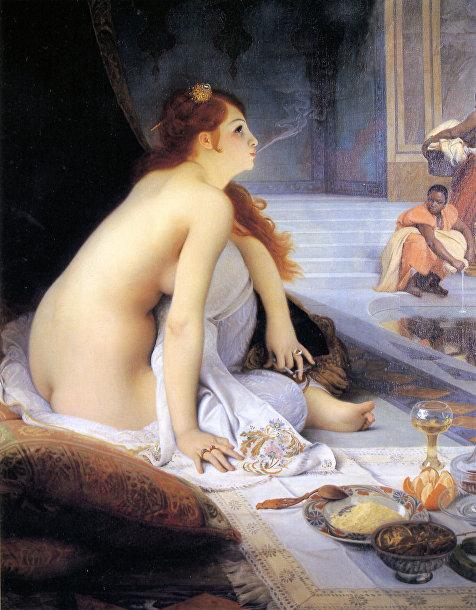 Картина французского художника Жан-Жюль-Антуана Леконта дю «Белый раб»