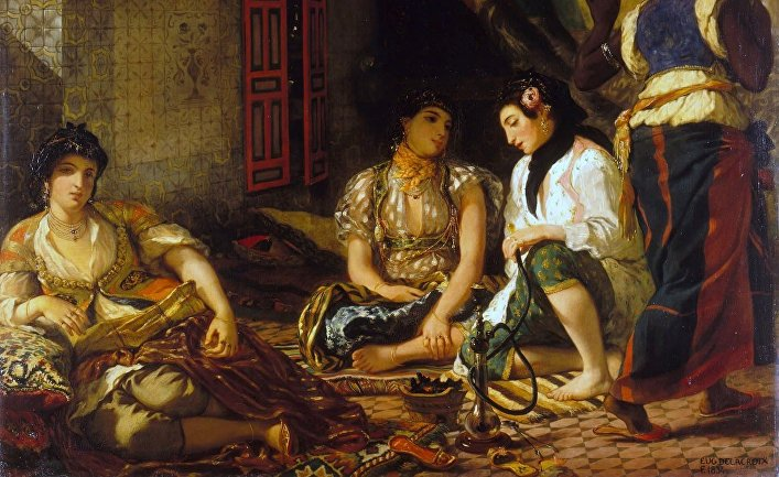 Картина французского художника Эжена Делакруа «Алжирские женщины»