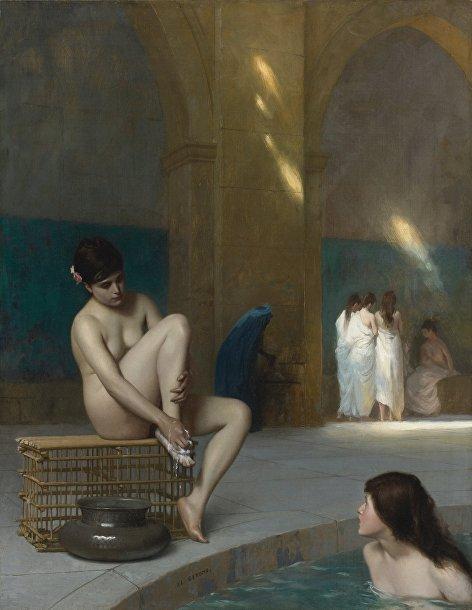 Картина французского художника Жан-Леона Жерома «Обнаженная девушка»