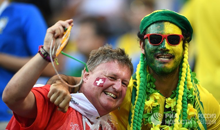 Футбол. ЧМ-2018. Матч Бразилия - Швейцария