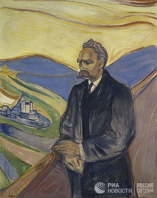 Эдвард Мунк «Портрет Фридриха Ницше», 1906 год