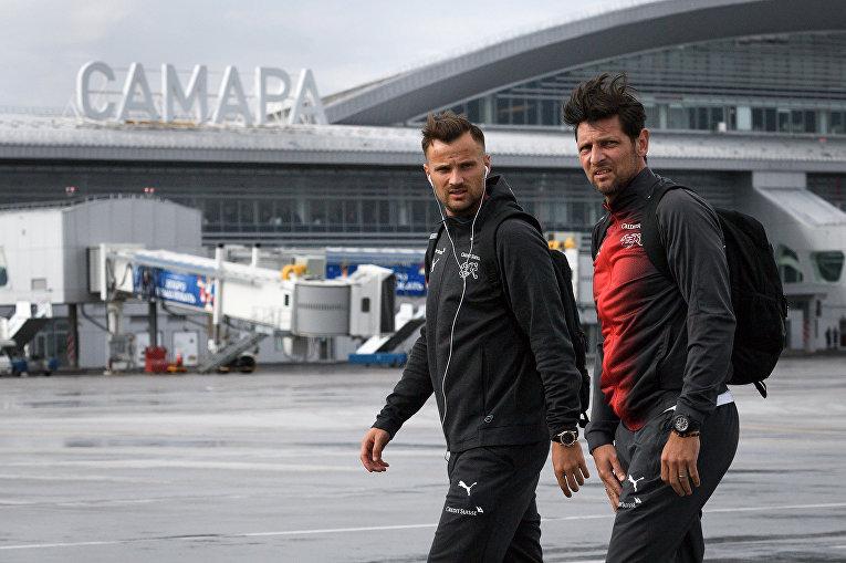 Команда сборной Швейцарии прибыла в аэропорт Самары