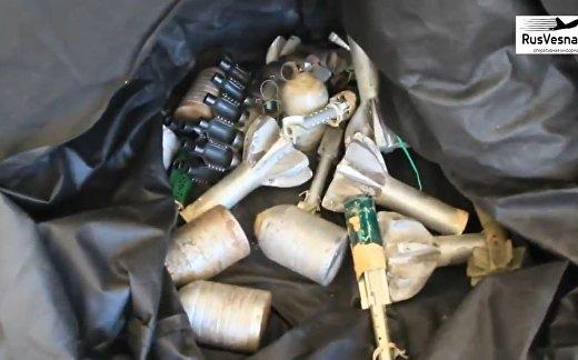 Склад боеприпасов террористов в Хомсе