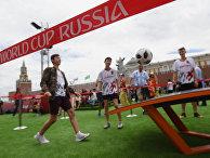 Открытие Парка футбола ЧМ-2018 на Красной площади