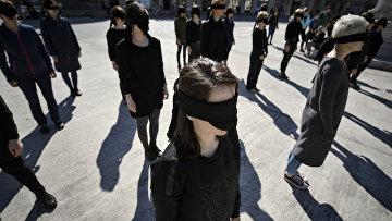 Феминистки празднуют Международный женский день