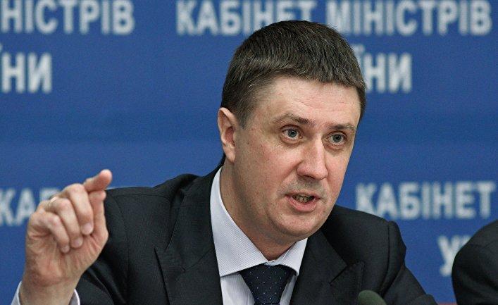 Вице-премьер-министр Украины Вячеслав Кириленко на пресс-конференции в Киеве