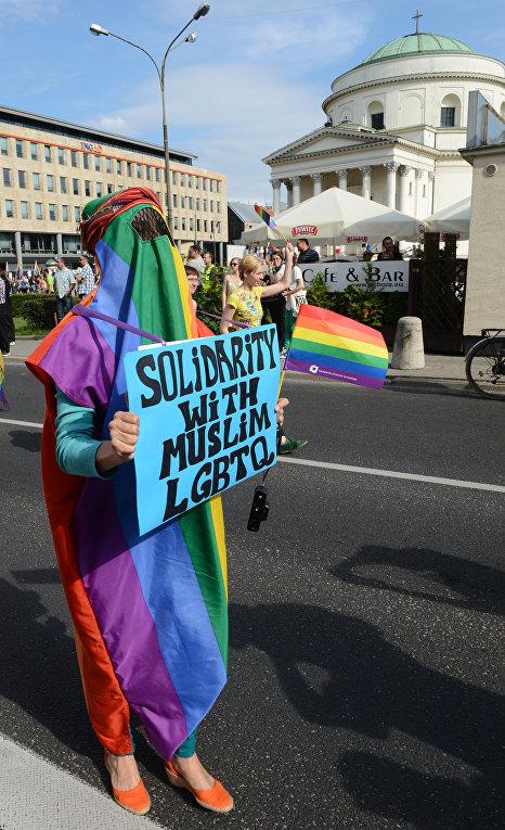 Участник гей-парада в Варшаве, Польша