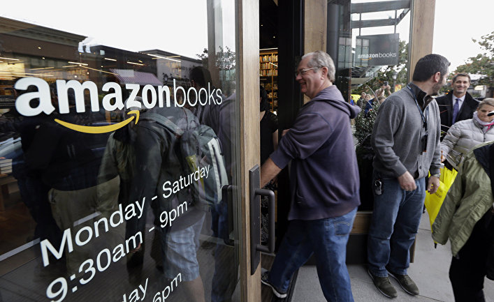 Открытие магазина Amazon Books в Сиэтле, США