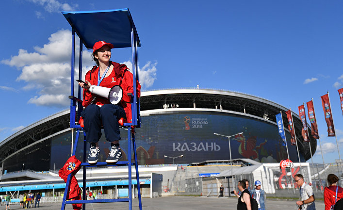 Волонтер Чемпионата мира по футболу в Казани