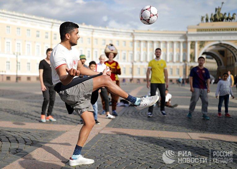 Болельщики ЧМ-2018 по футболу в  Санкт-Петербурге