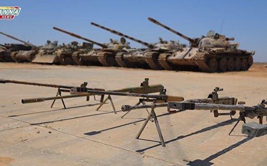 Оружие, переданное боевиками в Деръа