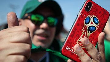 Болельщик на чемпионате мира по футболу в России