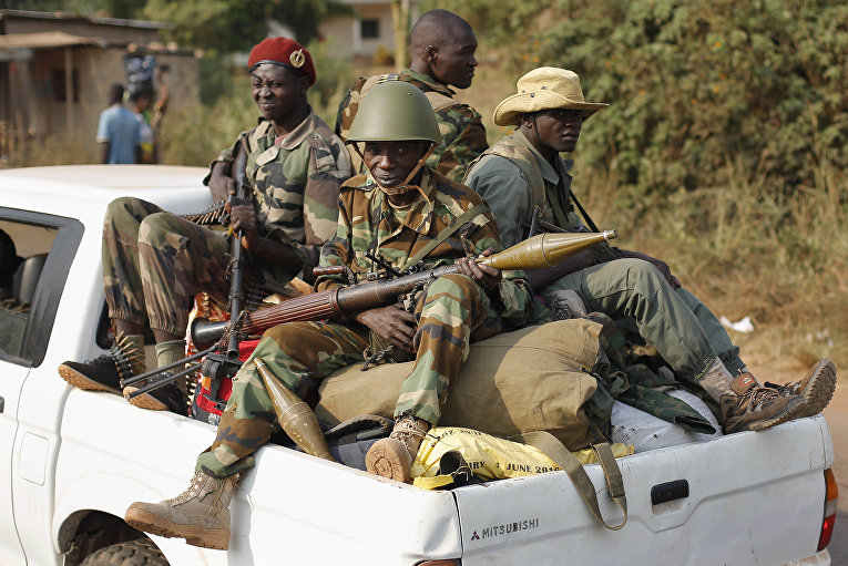 Вооруженные боевики в Центральноафриканской республике