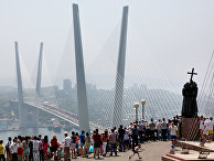 Мост через бухту Золотой Рог, Владивосток