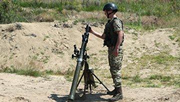 Военнослужащие во время учений в Львовской области