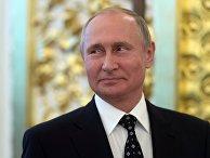 Президент РФ Владимир Путин на торжественном приеме в честь выпускников высших военных учебных заведений Минобороны РФ. 28 июня 2018