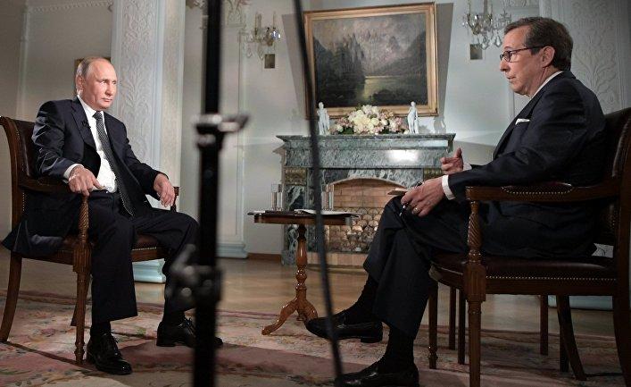 """Интервью президента РФ В. Путина американскому телеканалу """"Фокс ньюс"""""""