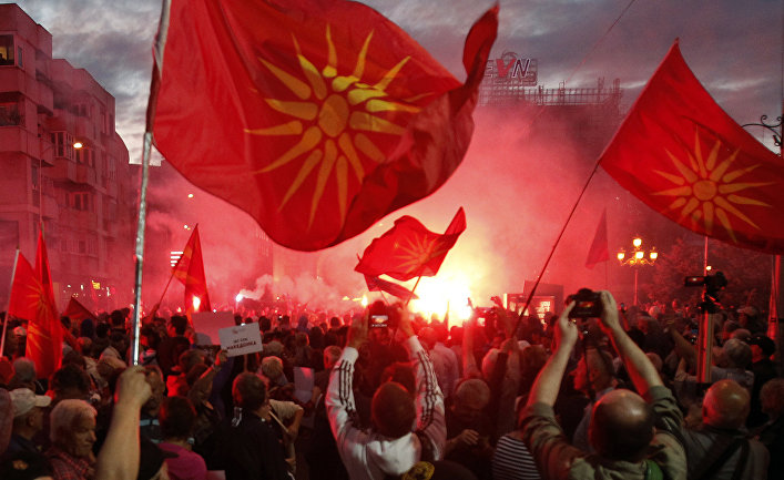 Протесты в Македонии