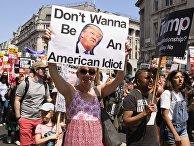Акция против Д.Трампа в Лондоне