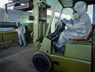 Демонстрация технологии уничтожения химического оружия на военном объекте Шиханы. 1987 год
