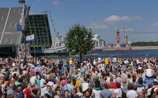Россия демонстрирует мощь ВМФ