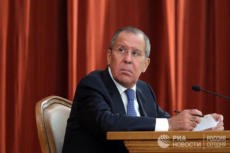Министр иностранных дел РФ Сергей Лавров на совещании послов и постоянных представителей РФ