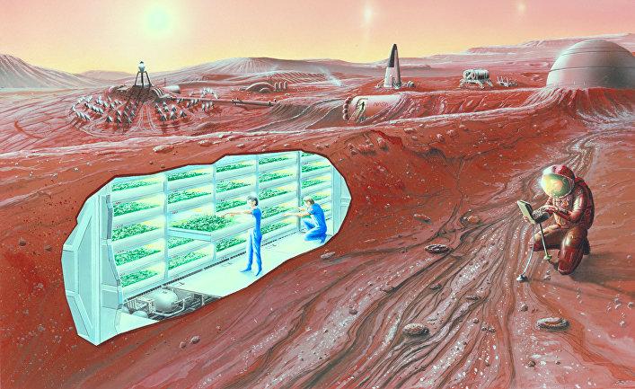 Так может выглядеть колония на Марсе в будущем