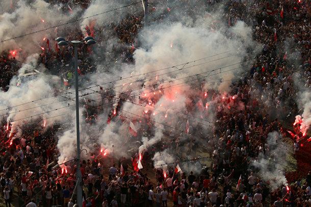 Акция памяти 74-й годовщины Варшавского восстания 1944 года