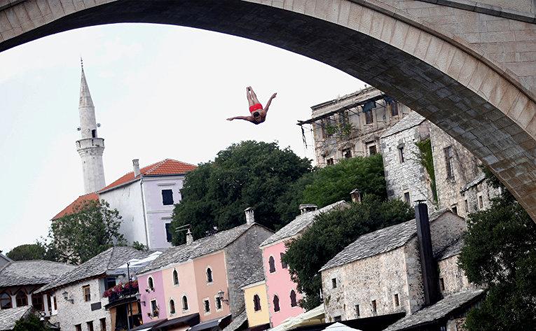 Соревнования по дайвингу в Мостаре, Босния и Герцеговина