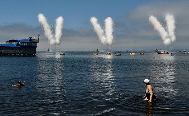 Парад ко Дню Военно-Морского Флота во Владивостоке