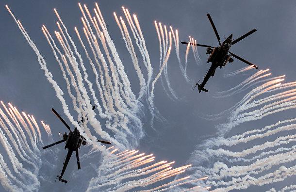 Военные вертолеты пилотажной группы «Беркуты»