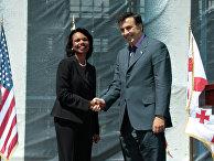 Брифинг госсекретаря США Кондолизы Райс и президента Грузии Михаил Саакашвили