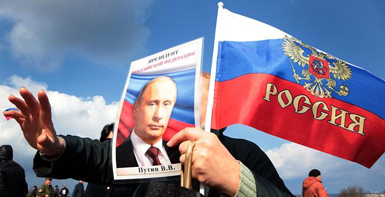 Празднование годовщины присоеденения Крыма к России в Севастополе