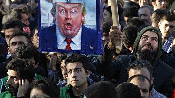 Акция протеста против решения Дональда Трампа признать Иерусалим столицей Израиля