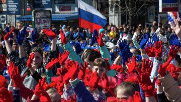 """Празднование годовщины """"Крымской весны"""" в Симферополе"""
