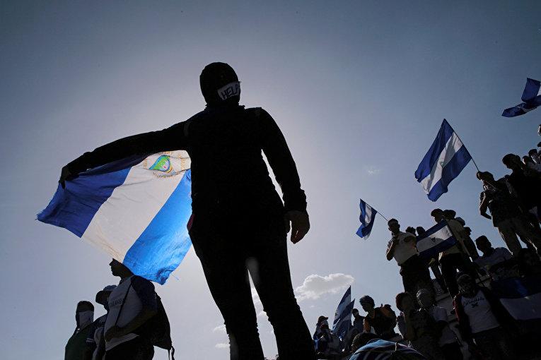 Антиправительственный митинг в Манагуа, Никарагуа