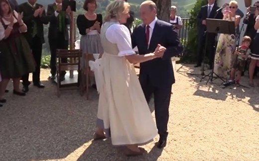 CGTN (Китай): Путин станцевал с главой МИД Австрии на свадьбе